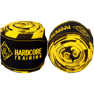 Бинты Hardcore Training Cross The Line Yellow/Black 3.5 hctbin02