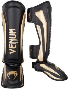 Щитки Venum Elite Black/Gold 01343