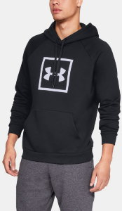 Толстовка Under Armour RIVAL FLEECE LOGO HOODY Black /  / White 1329745-001