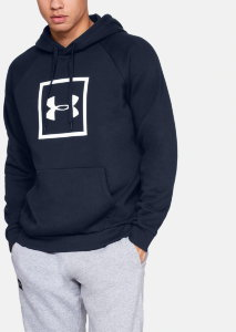 Толстовка Under Armour RIVAL FLEECE LOGO HOODY Academy /  / White 1329745-408