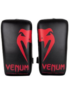 Пэды Venum Giant Kick Pads Black/Red (пара) 00405
