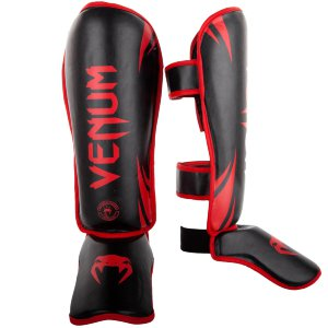 Щитки Venum Challenger Neo Black/Red 00389