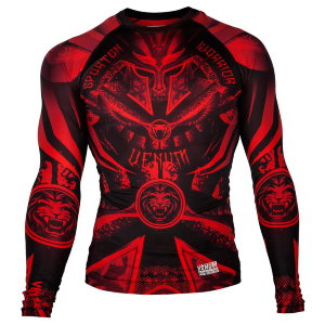Рашгард Venum Gladiator Black/Red L/S 00221
