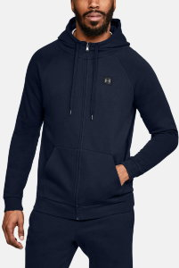 Толстовка Under Armour RIVAL FLEECE FZ HOODY Academy /  / Black 1320737-408