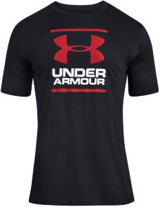 Футболка Under Armour UA GL Foundation SS T Black / White / Red 1326849-001