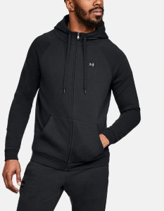 Толстовка Under Armour RIVAL FLEECE FZ HOODY Black /  / Black 1320737-001