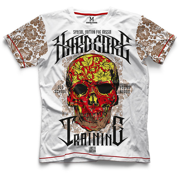 Футболка Hardcore Training Skull Folk hctshirt0150