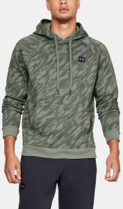 Толстовка Under Armour RIVAL FLEECE CAMO HOODY Moss Green / Moss Green / Black 1322031-492
