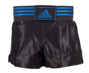 Шорты тайские Adidas Thai Boxing Short Satin adiSTH01черно-синие