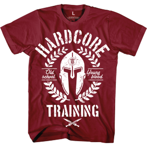 Футболка Hardcore Training Helmet Bordeaux hctshirt0328