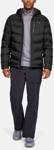 Куртка Under Armour Down Sweater Hooded- WARM Black / Black / Charcoal 1323834-001