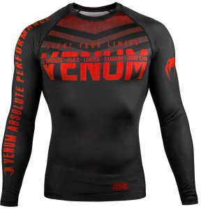 Рашгард Venum Signature Black/Red L/S 02883
