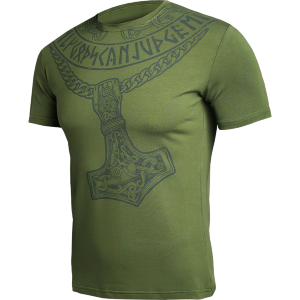 Футболка Hardcore Training Hammer Of Gods Olive hctshirt0285