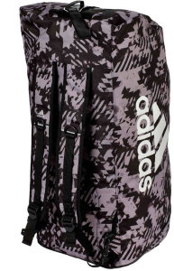 Сумка-рюкзак Adidas Training 2 in 1 Camo Bag Combat Sport L черно-камуфляжная adiACC058-L