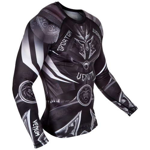 Рашгард Venum Gladiator 3.0 Black/White L/S 99284