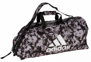 Сумка-рюкзак Adidas Training 2 in 1 Camo Bag Combat Sport M черно-камуфляжная adiACC058-M