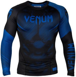 Рашгард Venum NoGi 2.0 Black/Blue L/S 01473