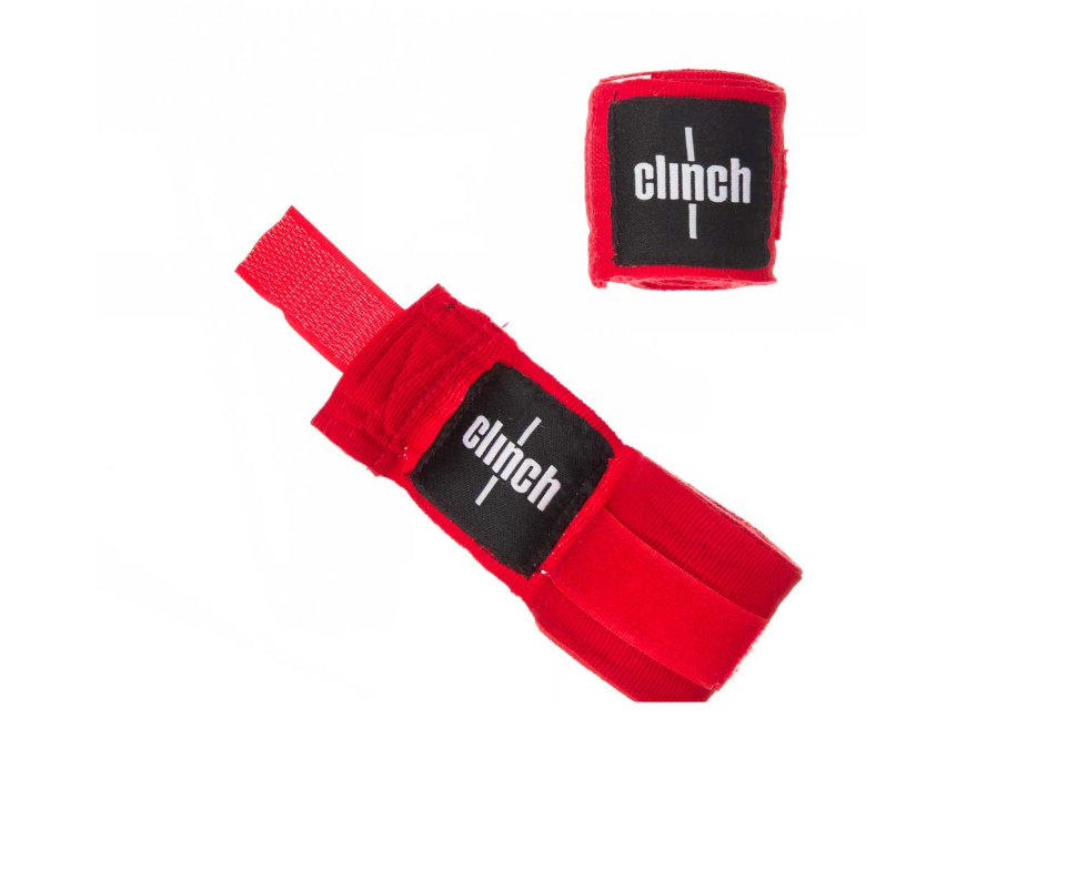 Бинты Clinch Boxing Crepe Bandage Punch 2.55-3.5м C139черные