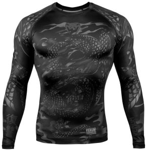 Рашгард Venum Dragon's Flight Black/Black L/S 02421