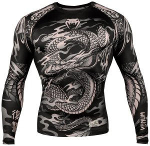 Рашгард Venum Dragon's Flight Black/Sand L/S 02435