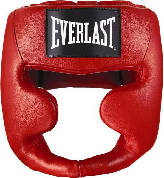 Шлем Everlast Martial Arts Leather Full Face 7620красн.