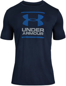 Футболка Under Armour UA GL Foundation SS T Academy / Steel / Royal 1326849-408