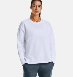 Джемпер Under Armour UA Rival Fleece EMB Crew-WHT 1362418-100