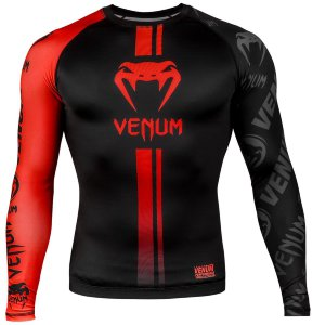 Рашгард Venum Logos Black/Red L/S 02457