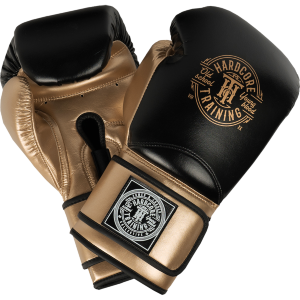 Боксерские перчатки Hardcore Training HardLea Black/Gold hctboxglove08